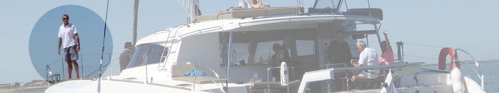 Photo de Yves germain et de son catamaran